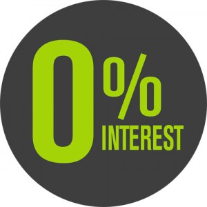 0% INTEREST payment plan